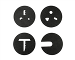Brent 3-piece plastic die set with selector