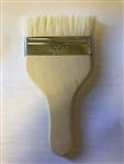 "4"" Flat Hake Glaze Brush for applying paint and pottery glazes"