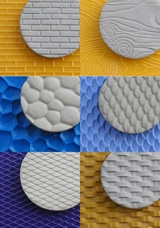 "Texture Mat Set Of 6 : 6"" x 8"" : Chinese Clay Art"