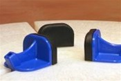 Basic  Blue Sliders, Set of 3 with Pads