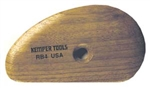 RB4 WOODEN POTTER'S RIB by Kemper Tools
