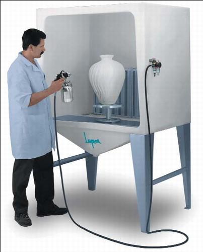 Laguna Pro-V Seamless Spray Booth - Laguna Airbrush Spray Booth Pottery Spray Paint Booth