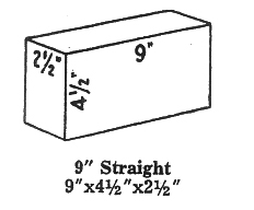"Super Duty Hardbrick-Straights 2.5"" : 4 Pack : Delivered Price"