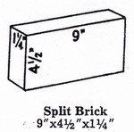 Super Duty Hardbrick Splits 9 X 4.5 X 1.25""