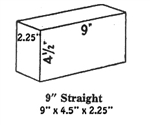 Medium Duty Hardbrick Fire Brick Straights 2.5""