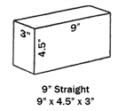 "G-23 Softbrick Straights-3"" : 10 Pack : Delivered Price"