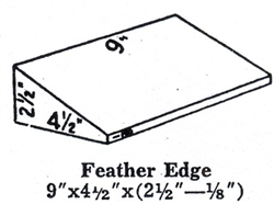 "Super Duty Hardbrick Feather Edge 3"" Fire Brick"