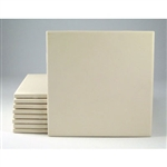 "6"" SQUARE BISQUE TILES: 7/32 thick: Case of 43 UNGLAZED"