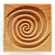 MKM Stamps4Clay - Large Square #02 (Double Spiral)