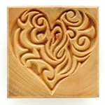 MKM Stamps4Clay - Large Square #15 (Heart)