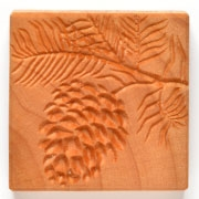 MKM Stamps4Clay - Large Square #49 (Pine bough)