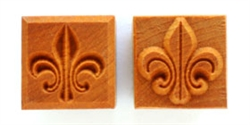 MKM Stamps4Clay - Medium Square #111 (Fleur-de-lis)