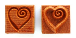 MKM Stamps4Clay - Medium Square #142 (Heart with curl)