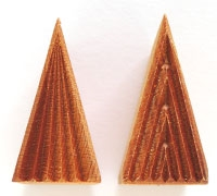 MKM Stamps4Clay - Med tall triangle stamp #1