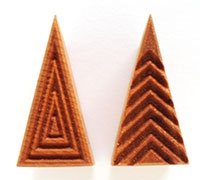 MKM Stamps4Clay - Med tall triangle stamp #2
