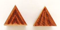 MKM Clay Stamp -- small triangle #1