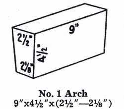 NC28A1: G-28 Soft Brick IFB Insulating Firebrick ARCH #1