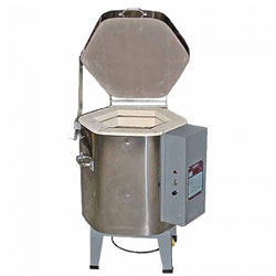OLYMPIC 1214-120: Cone 4, Top Loading 120 Volt Electric Kiln