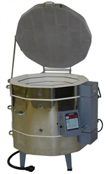 "Olympic 2318H ""Stackable"" Electric Kiln with V6-CF Electronic Controller : 4.7 Cu. Ft:  Cone 10"