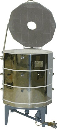 gas kiln. 2327-olympic torch bearer kiln /natural gas or propane with burners and ignition ring gas kiln