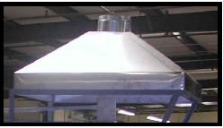 STAINLESS STEEL HOOD FOR OLYMPIC DOWNDRAFT KILNS