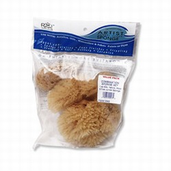 COMBO NATURAL SEA SPONGE SET AT SHEFFIELD POTTERY CERAMIC SUPPLIES