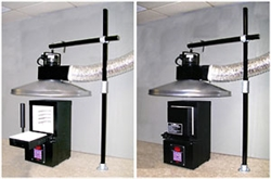 "Vent-a-Fume 37"" 500 cfm Bench Mounted Vent System"