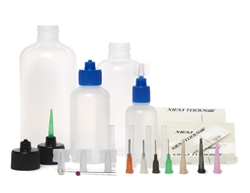 CABK Xiem Tools Customizable Applicator Kit (1, 2, 4 & 8 oz bottles and 4caps with 8 tips)