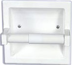 Recessed Toilet Paper Holder - White