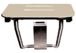 "Rectangular Shower Seat - Ivory Slatted Top (18"" by 16"")"