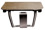 "Rectangular Shower Seat - Wood-Grained Phenolic Top (18"" by 16"")"