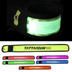 Custom LED Slap Bracelets Single Ink Color