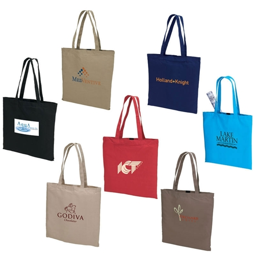 Custom Woven Tote Bags | Custom Solid Color Woven Cotton Tote Bags ...