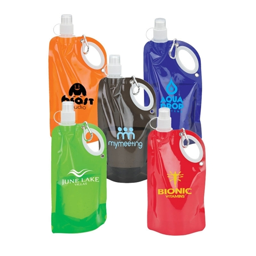 Foldable Water Bottle >> Custom Collapsible Water Bottles 25 Oz Promotional Collapsible