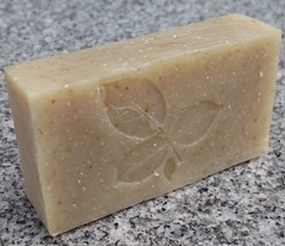 Unscented Oatmeal Bar Soap - Three-Leaf Design