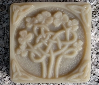 Peppermint Soap - Celtic Clover Design