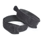 "Velcro One-Wrap® Black 12"" x 3/4"" Ties for Cables, Wires, and Cords"