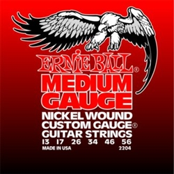 Ernie Ball 2204 Medium Electric Nickel Wound w/ Wound G Electric Guitar Strings