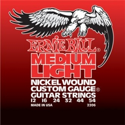 Ernie Ball 2206 Medium Light Electric Nickel Wound w/ Wound G Guitar Strings