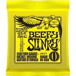 Ernie Ball 2627 Beefy Slinky Nickel Wound Electric Guitar Strings - 11-54 Gauge