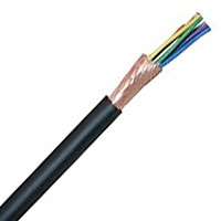 Mogami 2789 8-Conductor, 26 AWG Multicore Cable with Overall Served Shield - Black