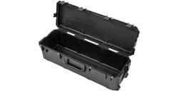 SKB 3i-4213-12BE Waterproof Large Drum Hardware Case With Handle & Wheels, Locking Latches (Empty)