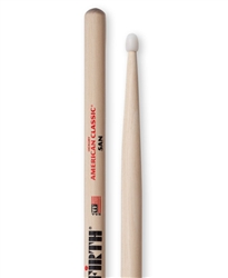 Vic Firth 5AN American Classic 5A Nylon Hickory Drumsticks Nylon Tips