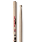 Vic Firth 5BBRL American Classic 5B Barrel Tip Hickory Drumsticks Wood Tip
