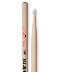 Vic Firth 5BN American Classic 5B Nylon Hickory Drumsticks Nylon Tips