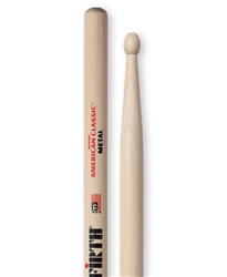 Vic Firth CM American Classic Metal Hickory Drumsticks Wood Tips