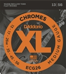 D'Addario ECG26 Chromes Flat Wound, Medium, 13-56