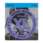 D'Addario EXL115 Nickel Wound, Medium/Blues-Jazz Rock, 11-49