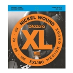 D'Addario EXL160 Nickel Wound Bass, Medium, 50-105, Long Scale
