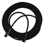 RapcoHorizon GPRO Black Mic Cable Neutrik Black XX Series XLRF-XLRM With Gold Contacts - 1 Foot